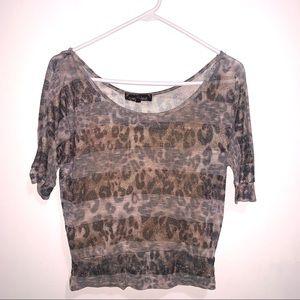 🌷5/$20 Women's Almost Famous Leopard Print Top